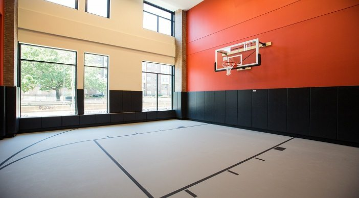 2m street apartments: DC Apartments: DC Rentals: Amenity Space: Basketball Court